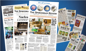Spokesman Review Wednesday, Saturday, Sunday Delivery Only $19.99 for 52 weeks! Limited Time!