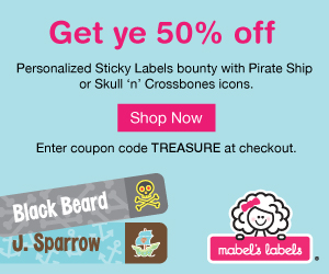 Save 50% off Mabel's Labels Pirate or Planes Labels!