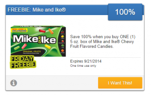 Friday Freebie! Grab a Free Box of Mike and Ike Chewy Fruit Flavored Candies!