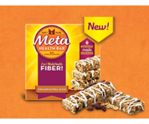 Free Metamucil Cinnamon Oatmeal Raisin Meta Health Bar!