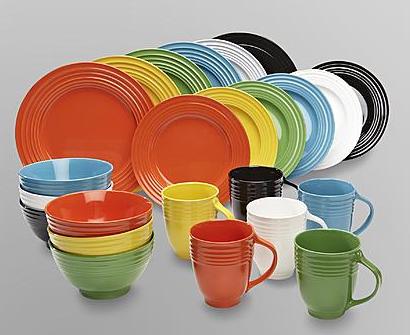 & Essential Home 16-Piece Solid Color Dinnerware Set $14!!