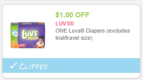 Diaper Deal! LUVS Diapers Just $4 at Safeway Friday Only!