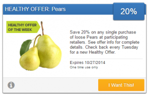 Healthy Produce Coupon! Save 20% on Loose Pears!