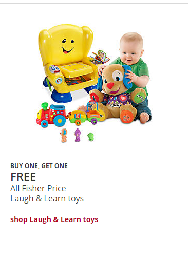 Buy 1, get 1 FREE Little Tikes Toy. Buy 1, get 1 FREE LEGO Minifigure 5 pack. $50 off Power Wheels Lil' Dune Racer. Buy 1 True Heroes & True Legends toys, get one 40% off. Please refer to your store for complete details *Click on the Red Banner to see these deals and more on the Toys .