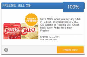Friday Freebie! Snag a Free Box of Jell-O Gelatin or Pudding Mix!
