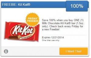 Friday Freebie! Score a Free Kit Kat Bar!
