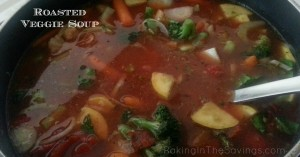 This delicious roasted vegetable soup is  an easy freezer-friendly gluten free dinner!