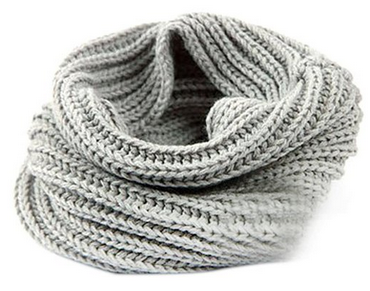 Knitting Loop Scarf : Women warm infinity one circle knit wool blend cowl loop scarf