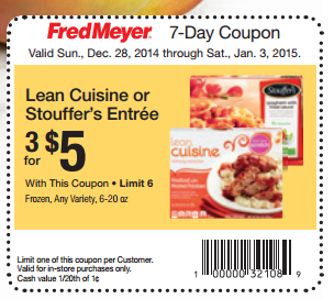 picture regarding Lean Cuisine Coupons Printable named Lean Delicacies Entrees Basically $1.33 at Fred Meyer With Refreshing Coupon!