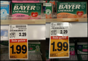 HOT! Bayer Aspirin Chewables FREE at Fred Meyer!
