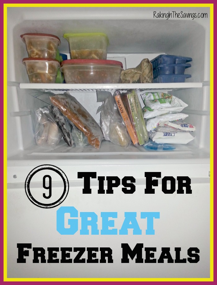 9 Tips For Great Freezer Meals
