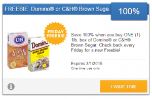Friday Freebie! Snag a Free Box of Domino or C&H Brown Sugar!