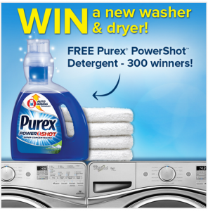 Grab a Purex Coupon + Get Your Chance To Win a Washer & Dryer!