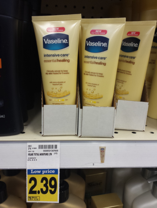 Vaseline Intensive Care Lotion Only $1 39 at Fred Meyer!