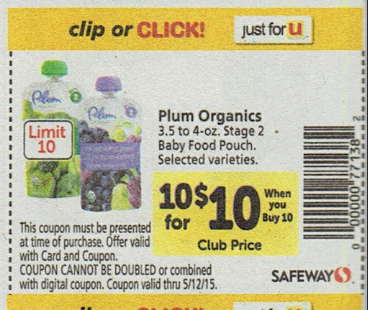graphic about Plum Organics Printable Coupons known as Boy or girl Package Setting up 4/29 at Safeway! Plum Organics Kid Foods