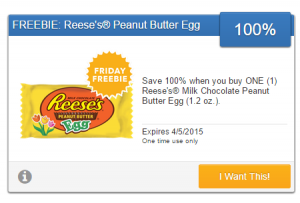 Friday Freebie! Grab a Free Reese's Milk Chocolate Peanut Butter Egg!