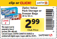 Ziploc Bags Just $2.49 Per Box at Safeway!