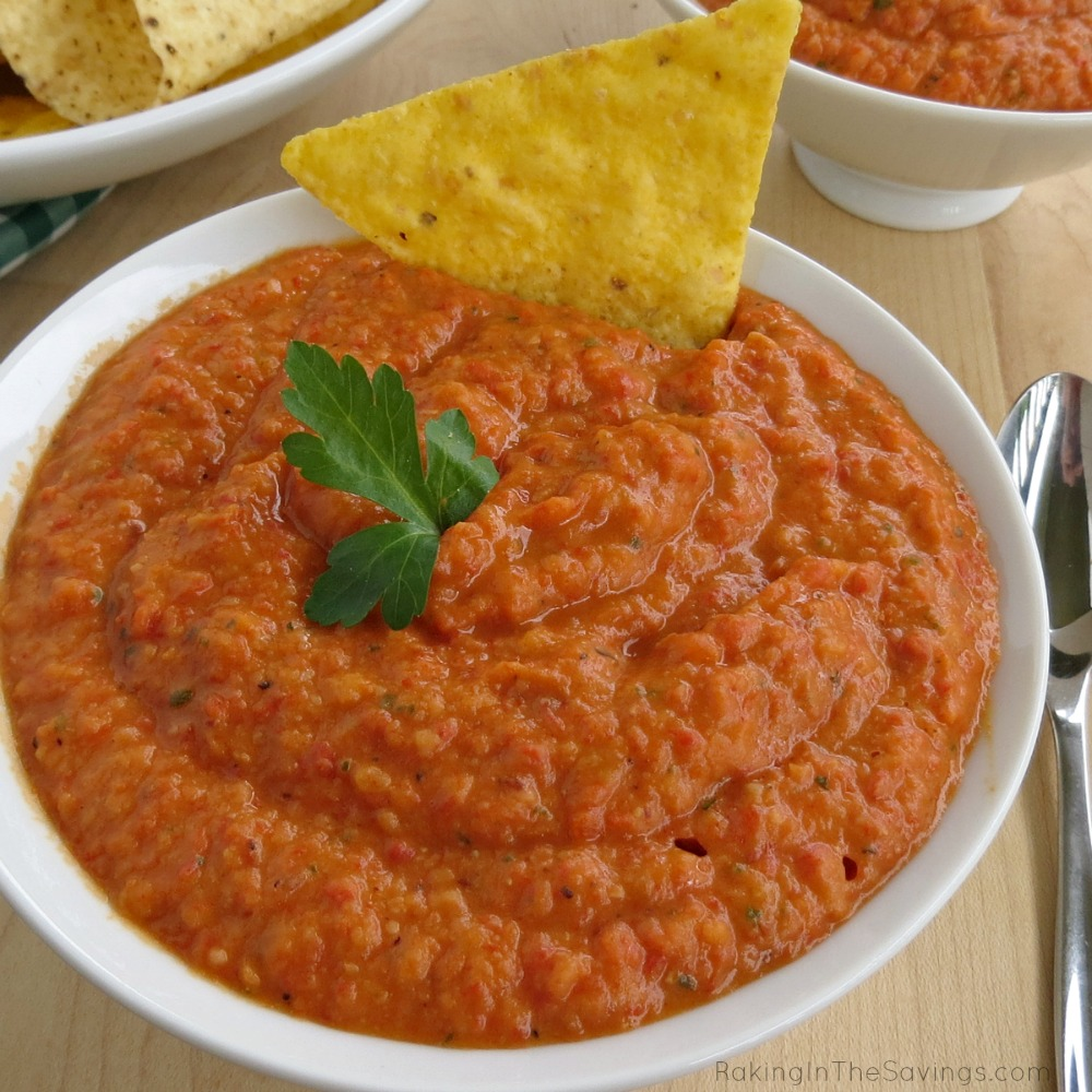 better than a health snack like this great Roasted Red Pepper Bean Dip ...