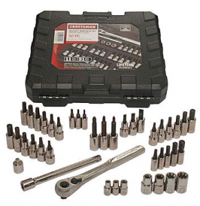 Craftsman 42 piece 1/4 and 3/8-inch Drive Bit and Torx Bit Socket Wrench Set $29.39!