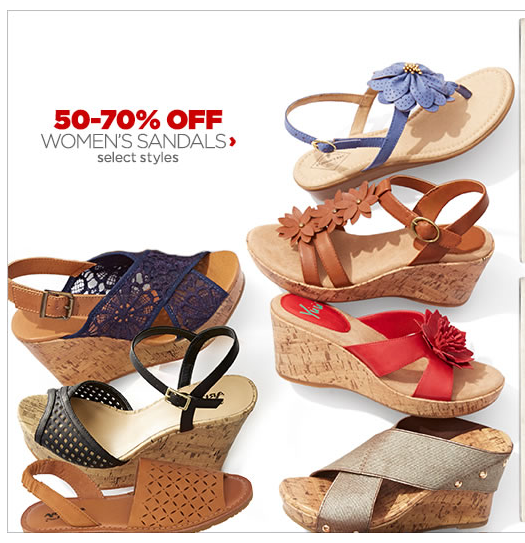 Wow! 50-70% or More off Women's Sandals