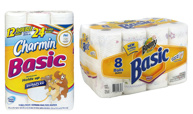 Bounty Basic Paper Towels or Charmin Basic Bath Tissue Only $4.50 ...