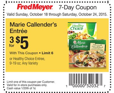 Marie callender coupons 2018