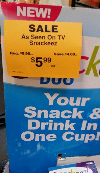 Great Buy! Snackeez Duos As Low As $3 89 at Fred Meyer With