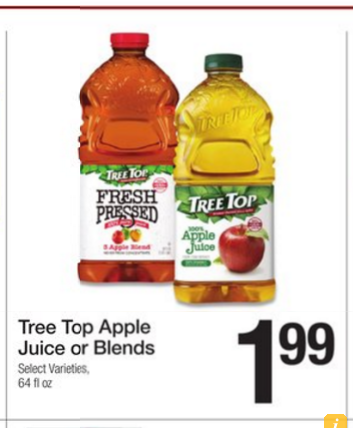 Tree Top Apple Juice For 99 At Fred Meyer