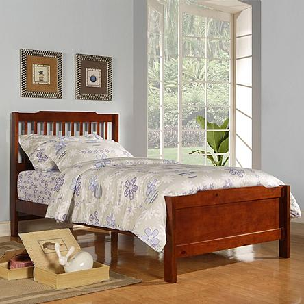 Oxford Creek Twin Size Bed in Mahogany