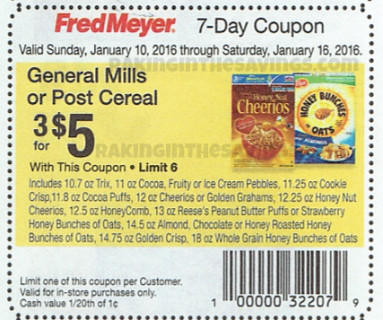 $2 off coupons for Post make it nearly free! Visit the link to get the $2 off Post Cereal coupon printable coupon. Current Post Cereal Coupons – Check out this website for some of their official offers available off your next purchase. Where to Buy Post Cereal – Here is a great link to see where to buy their cerael. Sponsored Links.