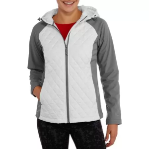 Free Tech Women's Sleek Quilted Jacket With Softshell Sleeves $14! (Reg $29.94)