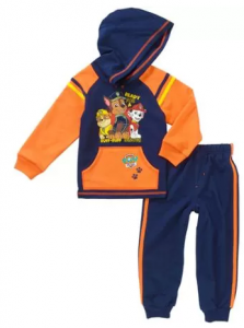 Paw Patrol Baby Toddler Boy Fleece Hoodie and Pants Outfit Set $7!