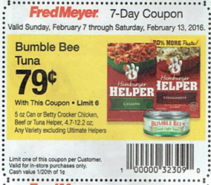 Betty Crocker Hamburger, Chicken, or Tuna Helpers As Low As $.54 at Fred Meyer Starting 2/7!