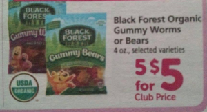 FREE Black Forest Organic Gummy Worms or Bears at Safeway! (North Idaho, Montana, and WA areas Without Doubles)