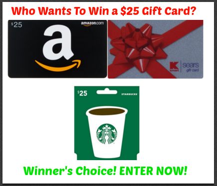 gift card giveaway side bar