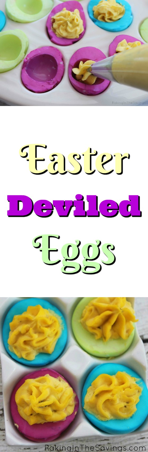 Looking for a fun and colorful way to do deviled eggs? Check out these easy Colorful Easter Deviled Eggs!