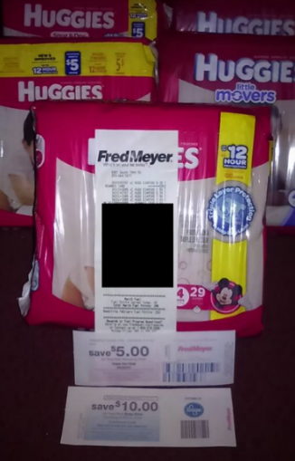 fred meyer huggies black