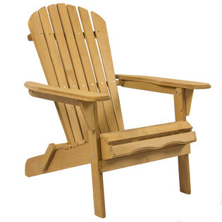 Bestchoiceproducts Outdoor Adirondack Wood Chair Foldable Patio Lawn Deck Garden Furniture 54