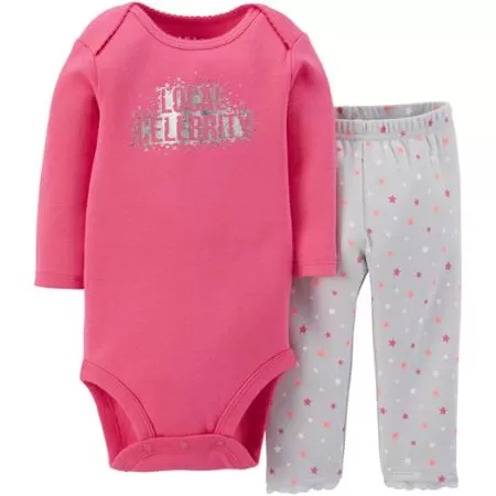 8db45e18f Newborn Baby Girl Bodysuit and Pants Outfit 2-Piece Set $5.50!