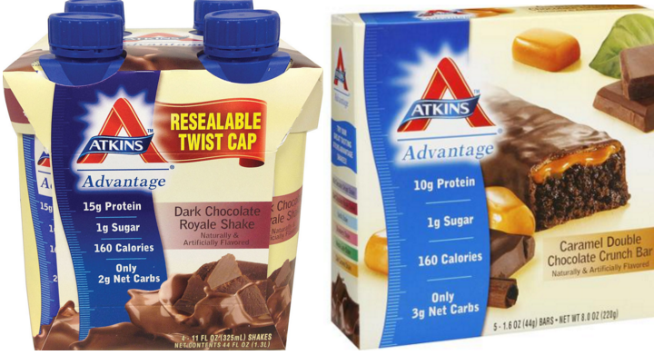 graphic regarding Atkins Printable Coupons named Atkins 5 ct Bars or 4 ct Shakes Accurately $2.50 at Fred Meyer