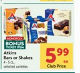 Atkins Shakes or Bars Only $3.00 at Safeway! Great Snacks For Work or While Running Errands!
