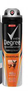 FREE Full Size Can of Degree For Men Motionsense Dry Spray Antiperspirant!