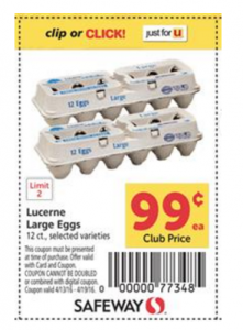 Score a Dozen of Lucerne Large Eggs For $.74 at Safeway With Coupon Stack! (Northwest Ad Region)