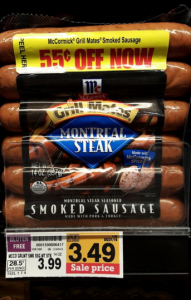 Fred Meyer Shoppers: McCormick Grill Mates Smoked Sausage $1.74! (Reg. $3.99)