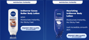Free Sample of Nivea In-Shower Body Lotion!