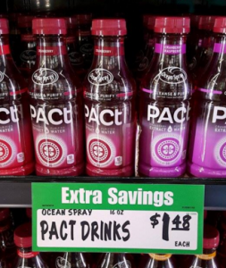 Score a FREE Bottle of Ocean Spray Pact Cranberry Extract Water at Winco!