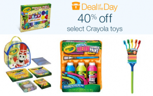 40% off select Crayola toys (Today Only)