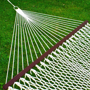 Best Choice Products Hammock 59″ Cotton Double Wide Solid Wood Spreader Outdoor Patio Yard Hammock $36.90 Shipped!