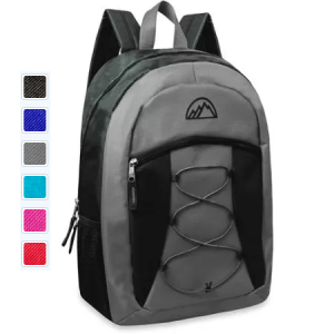 """Mountain Edge 17"""" Bungee Front Pocket Backpack $6.88!"""