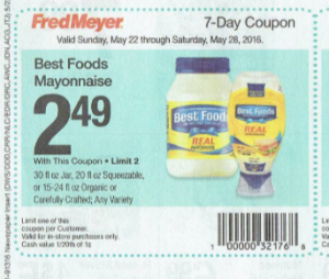 Best Foods Mayonnaise $1.99 Starting 5/22 at Fred Meyer!